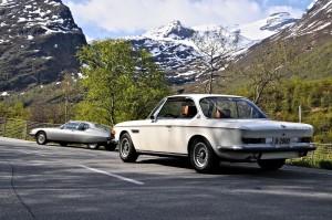 Citroen SM og BMW CS i Geiranger