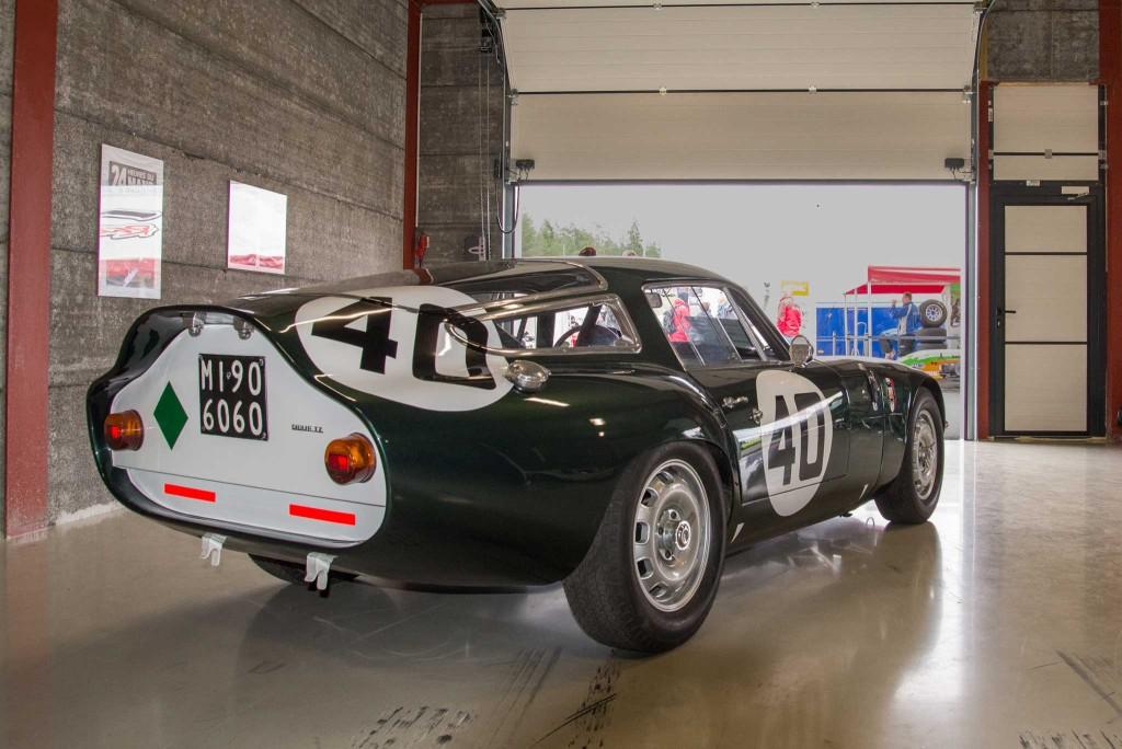 Alfa Romeo TZ (Tubolare Zagato) Løpsbil med rørramme og karosseri fra Zagato. Løpshistorie fra Le Mans og Nurburgring