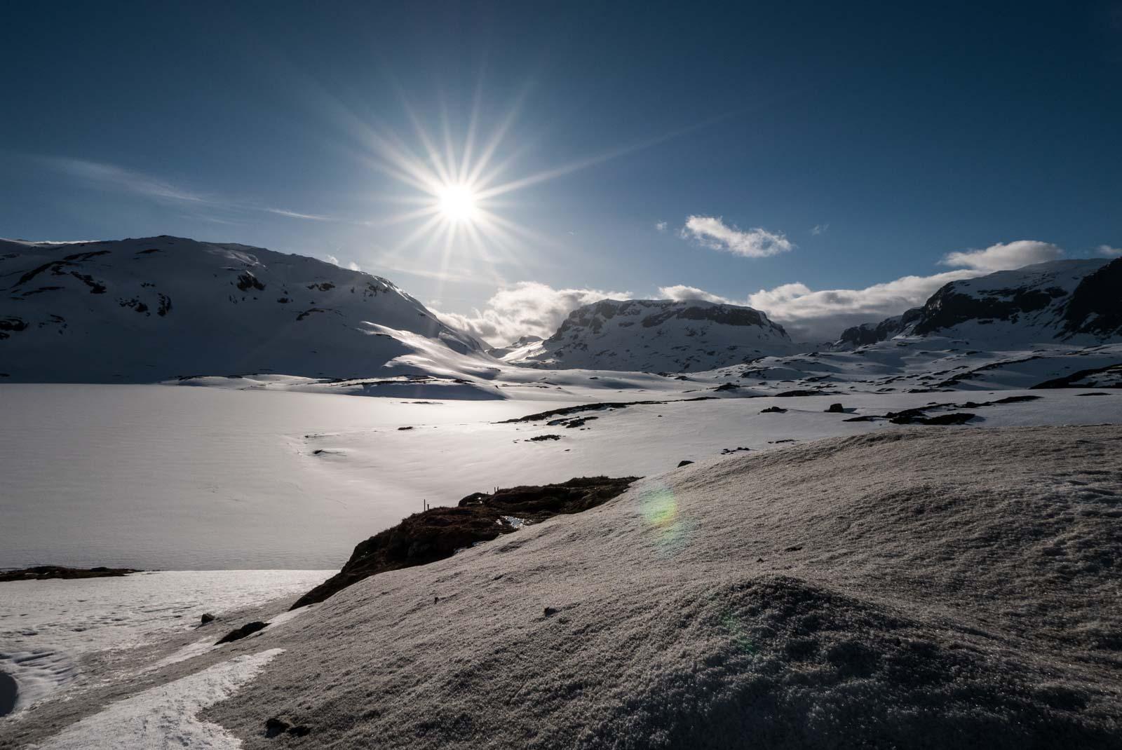 Snø på Haukelifjell