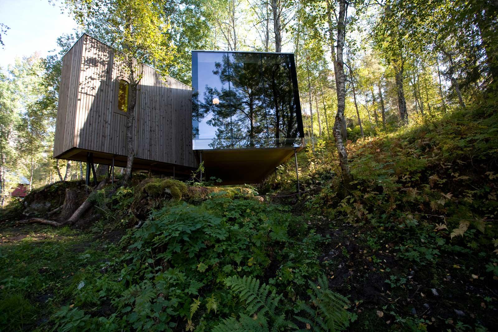 Et svært spesiellt hotell (foto: Juvet Landskapshotell)