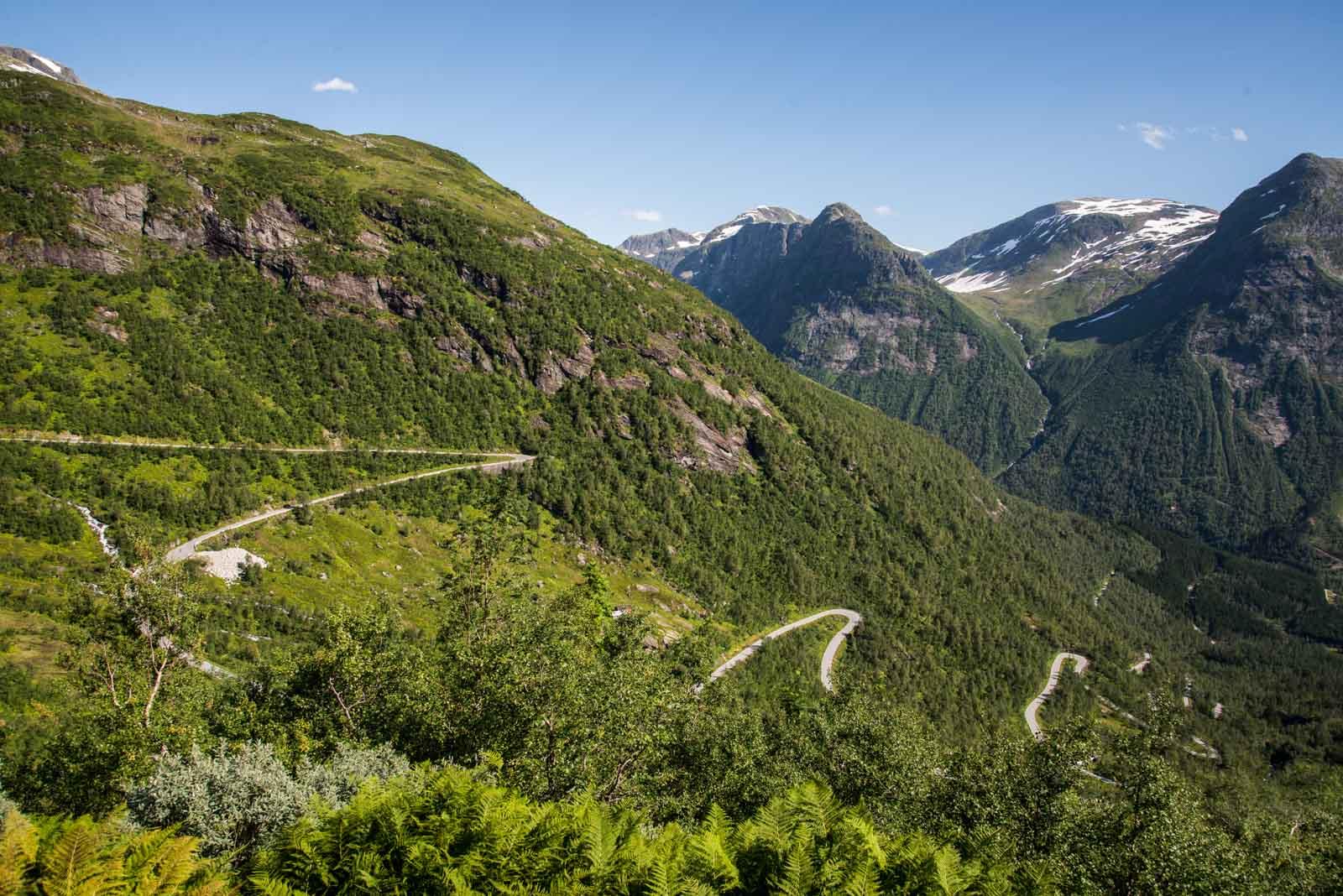 Nedkjøringen fra Gaularfjell