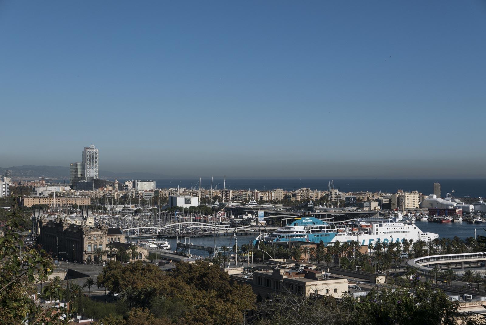 Flott utsikt over havna fra Hotel Miramar