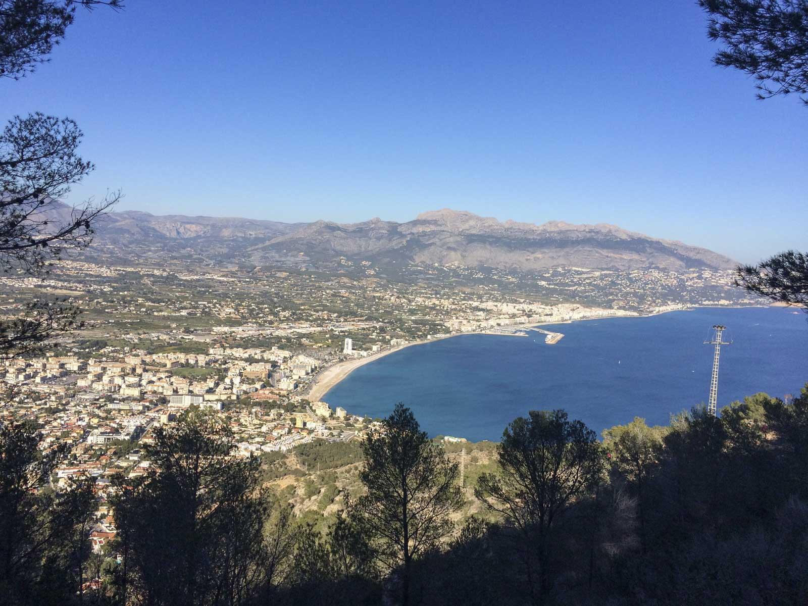 Flott utsikt nordover mot Calpe