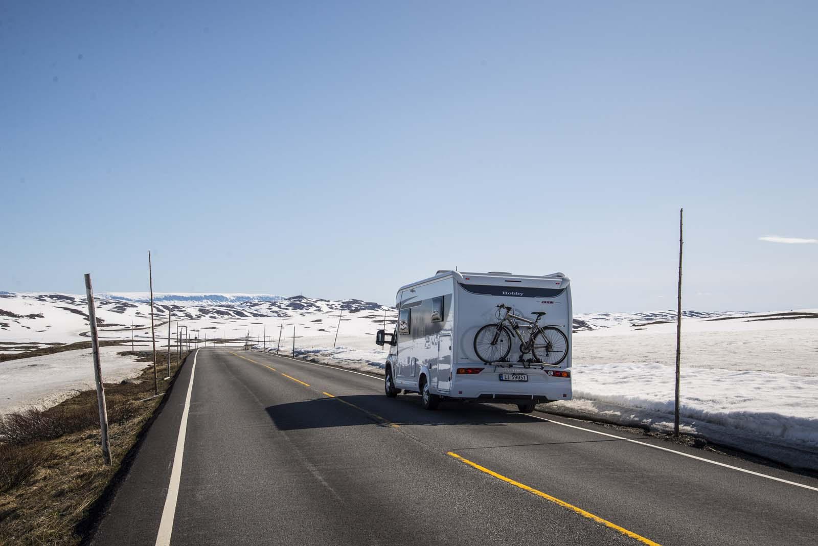 På vei over Hardangervidda. Min siste bobiltur med Hobby'n