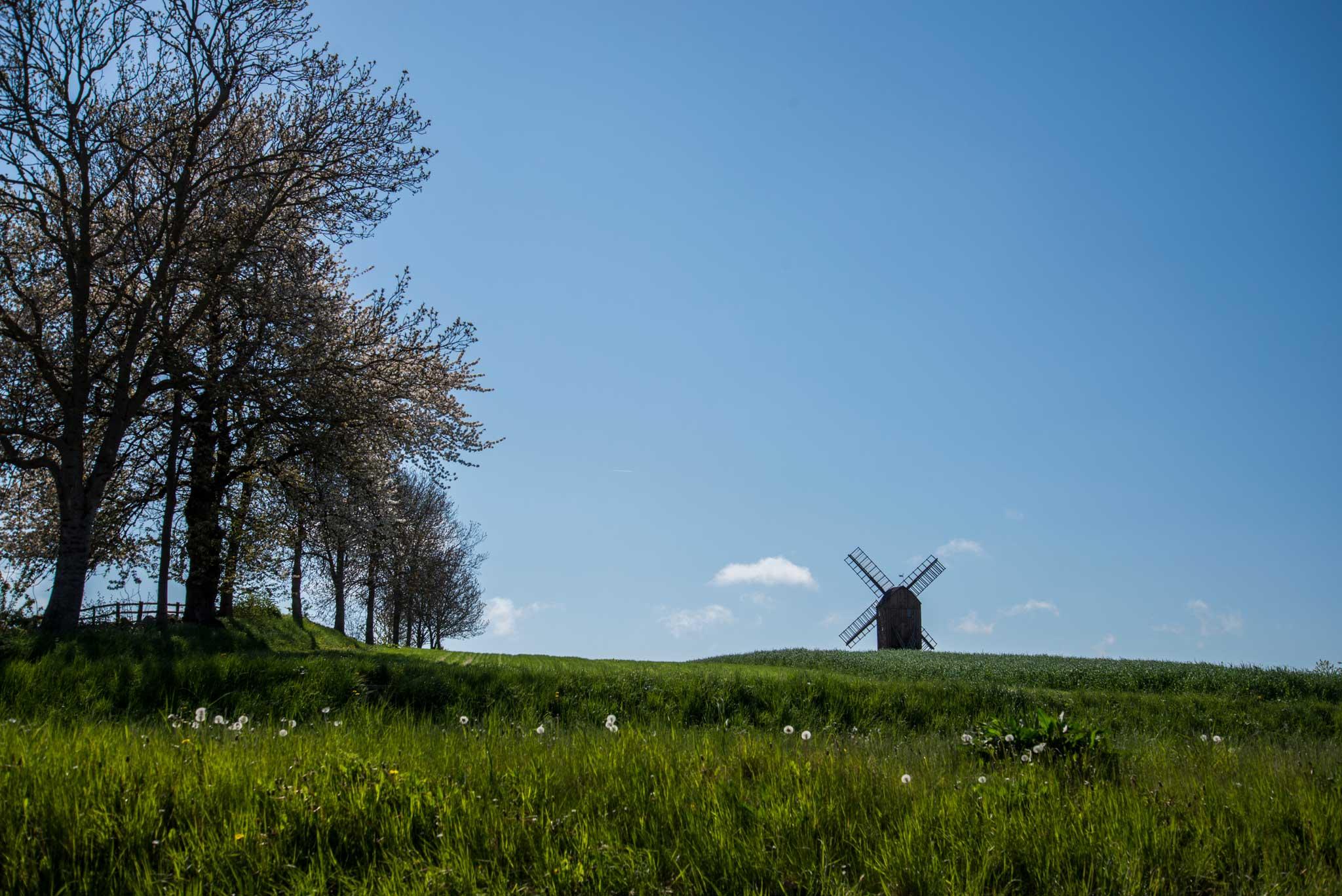 Vindmøller er et vanlig syn på Bornholm.