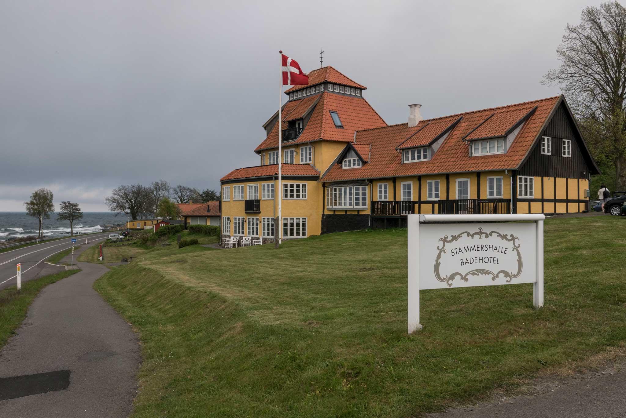 Stammershalle Badehotell er ett av mange gode spisesteder på Bornholm.