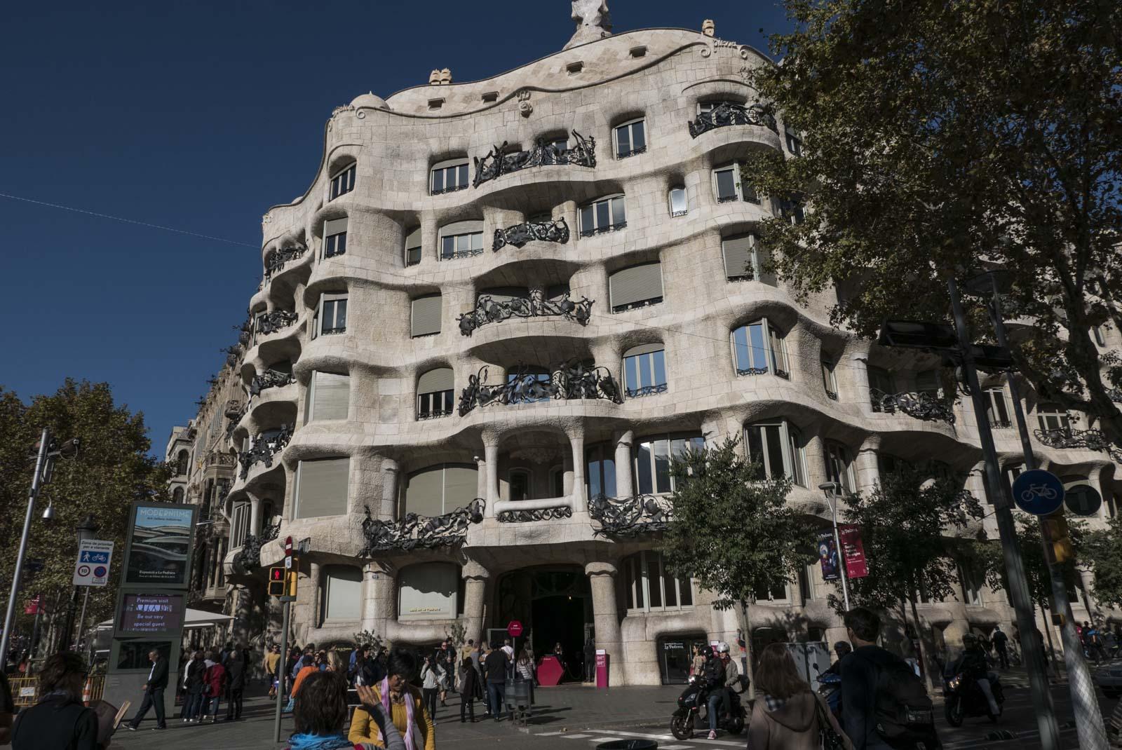 La Pedrerea, ett av de siste byggverkene signert Gaudi