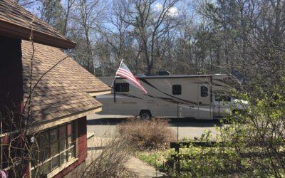 På campingtur i Amerika