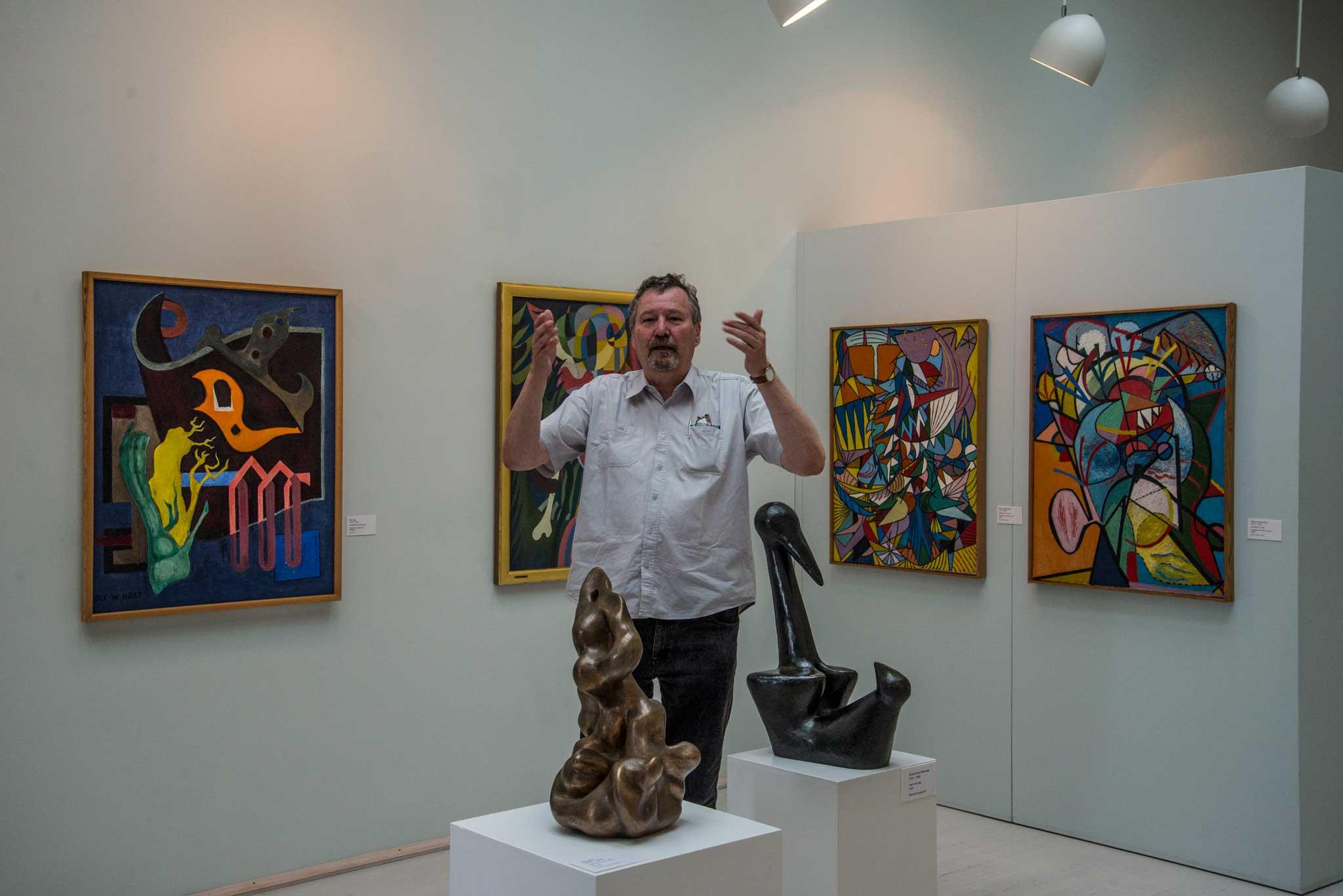 Bornholms Kunstmuseum har en stor samling av både lokale og internasjonale kunstnere